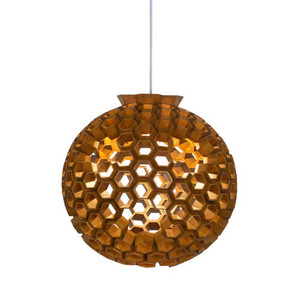 Large Constella Suspension Lamp 23 diameter x 23.5 H inches Lauan Wood