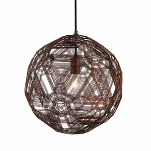Zattelite Suspension Lamp 11.75 diameter x 11.75 H inches Galvanized Iron Wire Florentine