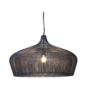 Moire Suspension Lamp 26 diameter x 18 H inches Galvanized Iron Wire