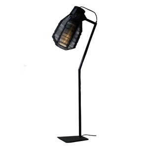 Bullet Floor Lamp 14 x 25 x 70 H inches Galvanized Iron Wire Black