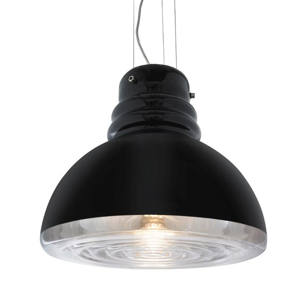 Grande Torino Suspension Lamp 15.5 diameter x 13.5 H inches Mouth-Blown Murano Glass
