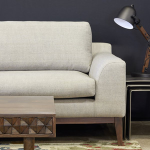 Holland Sofa 87 x 38 x 34.25 H inches Polyester, Walnut