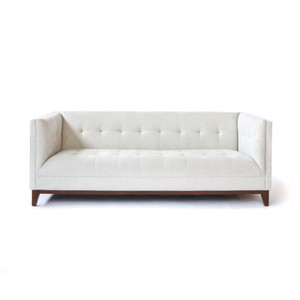 Earl Sofa 86.5 x 37.5 x 33.5 H inches Polyester Suede, Walnut