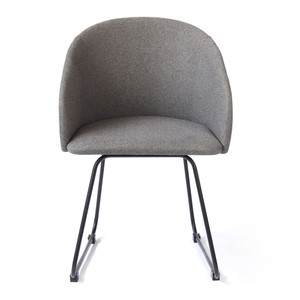 Oskar Dining Armchair 22.75 x 222.75 x 32 H inches Polyester, Steel