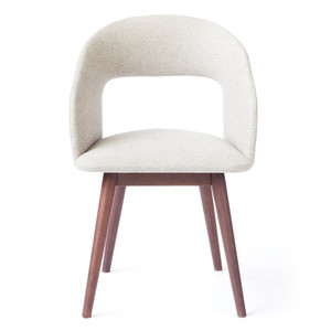 Niels Dining Armchair 22.5 x 23.5 x 32.25 H inches Polyester, Walnut