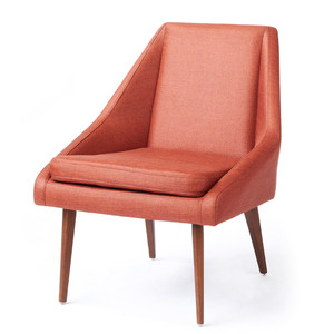 Janica Chair 29 x 30 x 31 H inches Polyester, Walnut