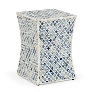Bristol Side Table 13 x 13 x 18 H inches Bone Inlay
