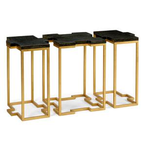 Blake Trio Tables 44 x 18 x 26 H inches Iron, Marble