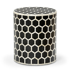 Versova Bone Inlay Side Table 16 x 16 x 18 H inches