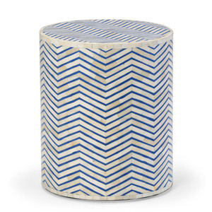 Agra Bone Inlay Occasional Side Table 16 x 16 x 18 H inches