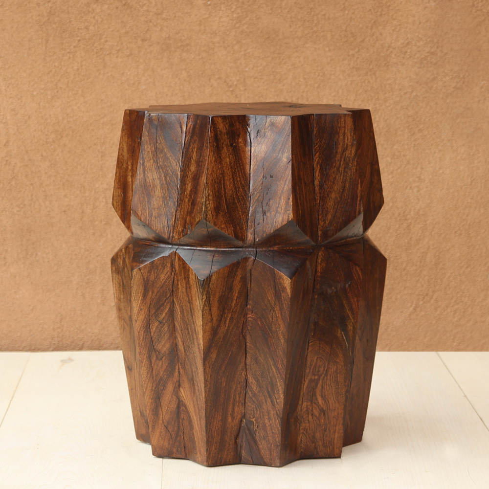 Estrella Side Table Size: 16 dia x 22 H inches Dark Walnut Finish