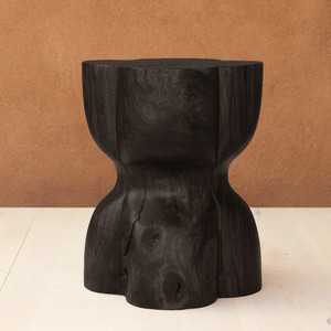 Trébol Side Table 15 x 15 x 22 H inches Ebony  Finish