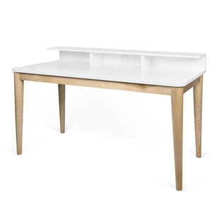 Xira Desk 47 x 24 x 35 H inches Solid Oak, Lacquer Wood