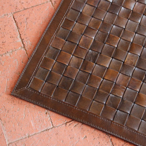 Viceroy Leather Rug Buffalo Leather Chocolate Brown