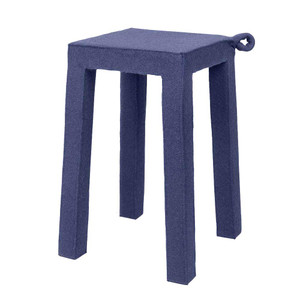 Felt Handle Stool 12 x 12 x 18 H inches Felt, Wood