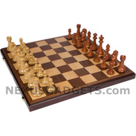 Abex Chess Set in Folding Case with Heavy Weight Polymer Pieces, 21 Inch