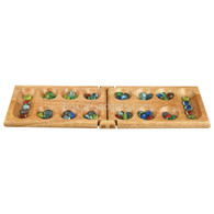 Memi Mancala Folding Wood Travel Set