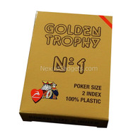 Modiano Single Deck Italian Plastic Playing Cards - Golden Trophy with Red Deck