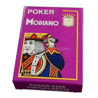 Modiano Single Deck Italian Plastic Playing Cards - Purple Poker Deck