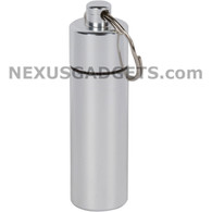 Aluminum Cylinder Pillbox Keychain