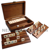 Triz Rummy Mini Travel Set in Wood Case