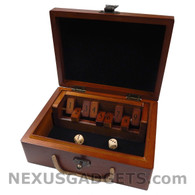 Sabo Shut the Box Game in Wood Case