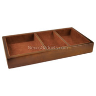 Woga Wood Valet Tray with Brown Felt