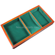 Wago Wood Valet Tray with Green Felt