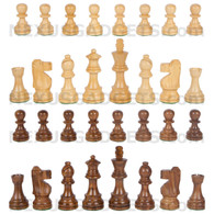 Maia Chess Pieces with 3 Inch King, PIECES ONLY, Made in India