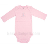 Gato Organic Baby Shirt, set of 3, Long Sleeves, Pink, Large
