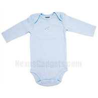 Gato Organic Baby Shirt, set of 3, Long Sleeves, Blue, Small