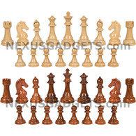 Nena Chess Pieces with Extra Queens and 4.25 Inch King, PIECES ONLY