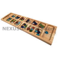 Vudo Mancala Folding Wood Travel Set