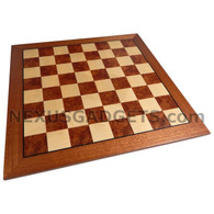 Hali 15 Inch Chess Board with Metal Pieces and Extra Queens