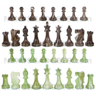 Zemi Chess Pieces with Extra Queens and 3.7 Inch King, PIECES ONLY