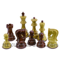 "Bena Chess Pieces with Extra Queens - 3.75"" King - BOARD NOT INCLUDED"