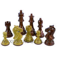 "Rana Chess Pieces with Extra Queens - 3.75"" King - BOARD NOT INCLUDED"