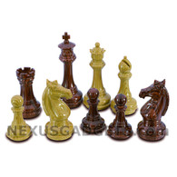 "Whun Chess Pieces with Extra Queens - 3.75"" King - BOARD NOT INCLUDED"