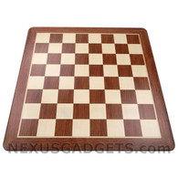Tena 19 Inch Wood Chess Board, BOARD ONLY
