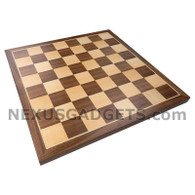 Mawi 16 Inch Chess Board in Walnut Wood, BOARD ONLY