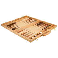 Chio Backgammon Wood Suitcase, Extra Large 18 Inch