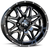 "MSA M26 Vibe UTV Wheel - 14"" / 16"" - Milled"