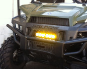 Polaris Ranger XP 900 /570 Grille LED Light Bar Kit with Amber Lenses Installed