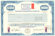 United States Basketball League Inc. stock certificate 2005 (summer league)