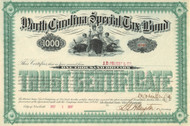 North Carolina Special Tax bond 1887