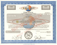 E Street Access Inc. stock certificate specimen 2000 (financial software)