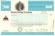 Massey Energy Company stock certificate specimen 2000 (coal mining)