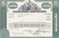 Studebaker Corporation stock certificate - green