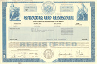 State of Hawaii bond certificate 1985