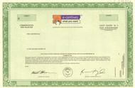 E-Centives Inc. stock certificate specimen circa 2000